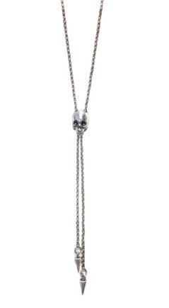 jewelry silver skull bolo