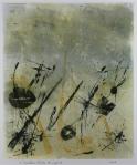 "Jana Grover, ""A Random Order to Life"", 13""x11"", monotype"