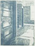 "Amanda Hanlon, ""Southern Light "", 9"" x 12"", Reductive relief print"