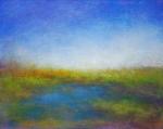 "Victoria Veedell, ""Limantour Marsh"", 8"" x 10"", oil on wood"